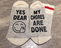 This item is unavailable Funny Socks, Novelty Socks, Wool Socks, Yes, Suits You, Mom And Dad, Drink Sleeves, Wool Blend, Snug