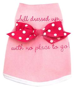 I See Spots Dog Pet Cotton TShirt Tank All Dressed Up with No Place to Go XSmall Pink