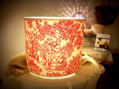Design your home with style! #handmade #toiledejouy #lampshade #Customized #lighting #design #frenchstyle