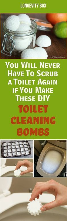 Are you tired from scrubbing the toilet day after day? Automate the cleaning process with these homemade chemical-free toilet bombs that do wonders! You will be amazed!