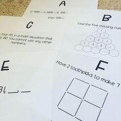 Math Brain Teaser Challenge! (middleschoolmathman.blogspot.com)