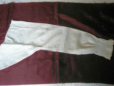 A PAIR OF ANTIQUE LINEN LONG SLEEVES FROM A SHIRT HAND SEWN ca. 1780 - 1800