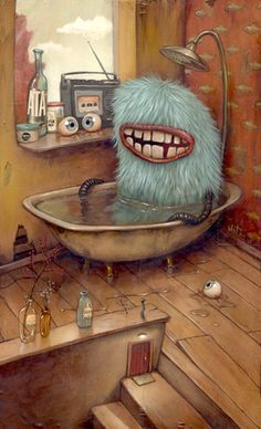 Bathtub Monster by Mateo Dineen