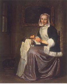 THE LACEMAKER Gabriel Metsu (1588-1629)
