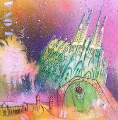 Buy Barcelona 12 (S), Mixed Media painting by Beate Garding Schubert on Artfinder. Discover thousands of other original paintings, prints, sculptures and photography from independent artists. Gaudi, Spray Paint Artwork, Original Art, Original Paintings, Barcelona, Shops, Watercolor Pencils, Mixed Media Painting, Etsy Shop