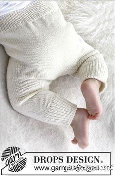 Вязание штанишек, как и другое вязание для малышей спицами, должно выполнятся из специальной детской пряжи, в данном случаи BABY MERINO. Модель вяжется от талии вниз с подъёмом для попы – благодаря чему штанишки отлично сидят на малыше и не сползают, когда ползает он.