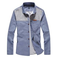 2015 Newest Men Casual Shirts Size Classic Brand Korean Patchwork Men's Clothing Charm Man Denim Color Fashion Tee Shirts Pantone, Casual Shirts For Men, Men Casual, Denim Tees, Button Up Shirts, Tee Shirts, Denim Patchwork, Urban Dresses, Colored Denim