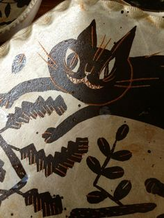 Kagoshima, Cat Pin, Cat Accessories, Tea Art, Ceramic Decor, Funny Art, Black Cats, Animal Paintings, Crazy Cats