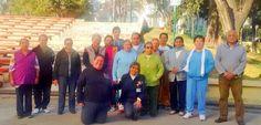 Activación física para adultos mayores en el deportivo 20 de Noviembre (La Rosita)