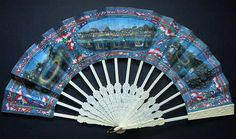 """Views of Macau"" telescoping fan, ca 1850."