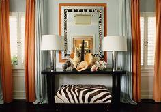 #Tangerine tango orange drapes