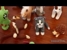 Dimensions - Felted Characters - YouTube [video showing use of molds to make animals in two halves]