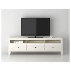 Complete your home with HEMNES, TV unit, gray dark gray stained, Knobs included. Coordinates with other furniture in the HEMNES series. Use fasteners suitable for the walls in your home. Hemnes Tv Bank, Ikea Entertainment Units, Entertainment Products, Tv Banco, White Stain, Colorful Furniture, Home Living Room, Home Furnishings, Furniture Design