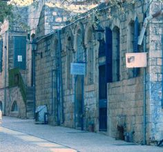 Safed, Israel - Jewish holy town... i loved all of the amazing blue hues throughout the city.