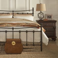 TRIBECCA HOME Xander Dark Brown Steel Metal Bed - Overstock Shopping - Great Deals on Tribecca Home Beds
