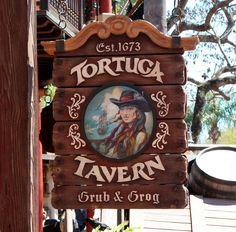 Tortuga Tavern Signage Party Shed, Walt Disney World, Signage, Caribbean, Frame, March, David, Design, Google Search