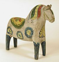 New Dala horse made to look really old by Grannas A Olssons Hemslöjd AB