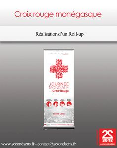 Roll-up pour la Croix Rouge Monégasque