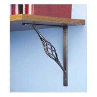 Stanley Hardware 7-by-8-Inch Rustic Shelf Bracket, Antique Pewter #250594 by Stanley. $8.99. Amazon.com                The Stanley Hardware 7-by-8-inch Rustic Shelf Bracket provides both a functional addition and decorative touch to homes and work spaces. With an improved stronger tip design, this steel scroll shelf bracket exceeds BHMA standards and has a weight rating of 200 pounds when the brackets are spaced at a maximum of 32 inches apart. These antique pewter-plate...
