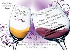 Wine Themed Wedding Shower Invites