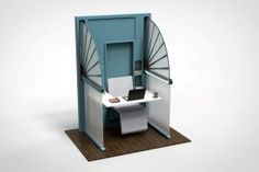 Yanko Design has created a folding cubicle in this post-pandemic world. Work Cubicle, Office Setup, Open Office, Maximize Space, Yanko Design, Work Desk, Coworking Space, Desk Accessories, Your Space