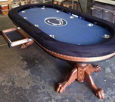 Custom poker table with chip drawer