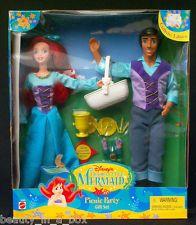 "Ariel & Prince Eric Picnic Party Gift Set Little Mermaid Disney Doll "" NRFB"