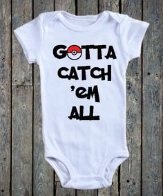 Pokemon Go Baby onesie/ Baby girl onesie/ Baby boy onesie/ Rare Pokemon/ Pokemon Go App/ Baby onesie/ baby pokemon hunter/Gotta catch em all by BeutiqueCreations on Etsy
