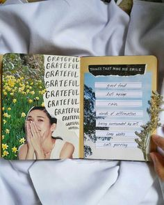 Always be grateful 🌻 what makes you smile? // Say hello to the WINNER of our positivity-themed Congratulations 💛 We will be posting 4 more of your beautiful journal spreads over the coming weeks! Thank you for reminding us to smile ☉ Wreck This Journal, Bullet Journal Art, My Journal, Bullet Journal Inspiration, Art Journal Pages, Journal Ideas, Art Journals, Journaling, Kunstjournal Inspiration