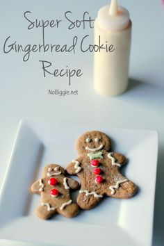 The recipe for the best super soft gingerbread cookies - perfect for holiday baking!