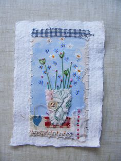 small mixed media piece by hens teeth, via Flickr