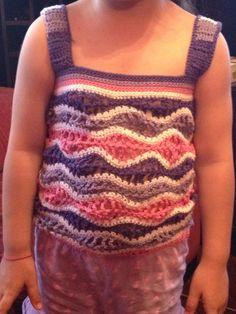 Polerita para mi hija en tejido de ondas
