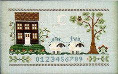 Little House Needleworks Counting House - Cross Stitch Pattern. Welcome to the Counting House -- where you can count perfect white sheep till you fall peacefull