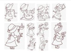 Sunbonnet Instant Download Machine Embroidery by JanettesDesigns