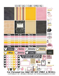 Free Printable Reformatted Back To School 2 Sampler Page 1 for the Vertical Erin Condren and Recollections Creative Year Planners from myplannerenvy.com