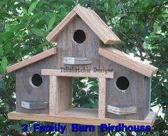 Rustic Birdhouse-Barn Birdhouse Gift For Her Birdhouses