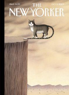 The New Yorker Cover - October 2009 Poster Print by Gürbüz Dogan Eksioglu at the Condé Nast Collection The New Yorker, New Yorker Covers, Capas New Yorker, Illustrations, Illustration Art, Cat Stands, Photo Chat, Inspirational Artwork, Magazine Art