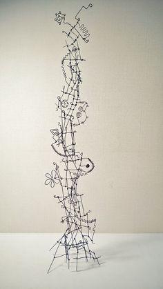 にしもとのりおの針金アート