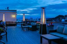 Rooftop view Mediterranean Inn Seattle