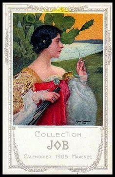 Art Nouveau Job Calendar 1905 Maxence
