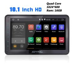 JOYING 10.1 Inch Super Screen Quad Core Android 4.4 Head Unit 1 din Car Stereo/Radio for Most Volkswagen Support Bluetooth Steering Wheel Mirroring