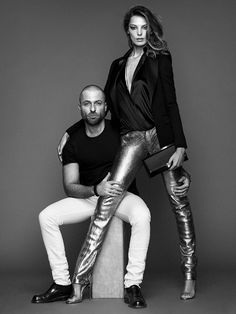 Alexandre Vauthier and Daria Werbowy by Nico for Lancôme 2014