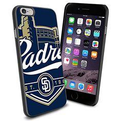 MLB San Diego Padres old logo Baseball, Cool iPhone 6 Smartphone Case Cover Collector iPhone TPU Rubber Case Black Phoneaholic http://www.amazon.com/dp/B00U0974CS/ref=cm_sw_r_pi_dp_au2nvb1WMFJBS