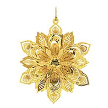 Danbury Mint Annual Gold Christmas Ornaments