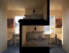 Intelligent solution for sibling bedrooms by @vardehaugen_arkitekter. . Tag #morpholio to be featured! .
