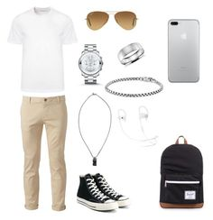 """men's  polyvore"" by jesy-smith on Polyvore featuring Chor, Versace, Converse, Herschel Supply Co., Movado, Ray-Ban, Kokon To Zai, Blue Nile, David Yurman et men's fashion"