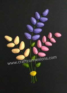 recycling craft... pistachio shells flower bouquet tutorial