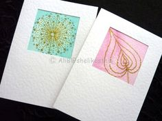 Original watercolour abstract art handmade art cards blank