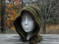Woodland Pixie /  Elf Crochet Hood / Fairy of the Woods Hood  by PiecefulWorlds, $35.00