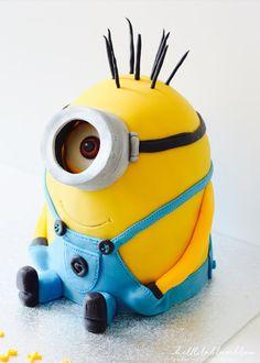 helllilablassblau: Stuart - Der Minion (3D-Motivtorte)